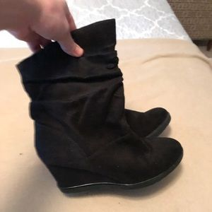 Merona Wedge Black ankle boot